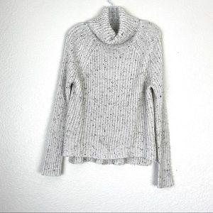 LUSH Heathered Gray Soft Turtleneck Sweater (S)